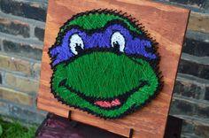 Ninja Turtle String Art by StringsAndThings11 on Etsy