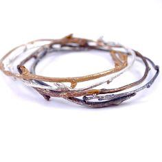 Tree Branch Bangle Bracelet