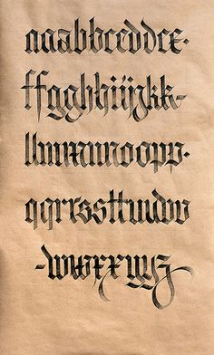 Textura vs. Fraktur. | da Syntax One