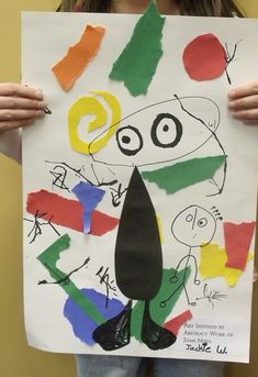 Joan Miro inspired art lesson- K