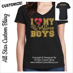 I Love My Wrestling Boys Shirt, Wrestling Mom Shirts, Custom Wrestling Mom Shirts, Wrestling Shirt, Mom Wrestling Shirt by AllStarCustomBling on Etsy