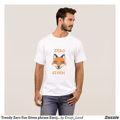Trendy Zero Fox Given phrase Emoji Cartoon T-Shirt