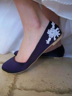 Wedding Ballet Flats. $99.00, via Etsy.