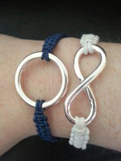 EYL - Bracelets en macramé avec accessoires argentés - tout le matériel sur Perles and Co
