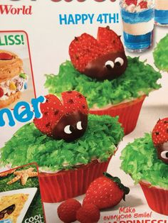Strawberry ladybugs Ladybugs, Projects To Try, Strawberry, Party Ideas, Cool Stuff, Happy, Desserts, How To Make, Food