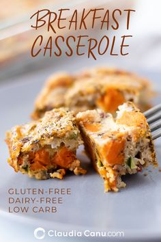 This breakfast casserole is easy to make and is perfect for a holiday breakfast or brunch. It's naturally gluten-free, dairy-free, low carb and it's loaded with nutrients. Gluten Free Breakfasts, Healthy Breakfast Recipes, Brunch Recipes, Gluten Free Recipes, Healthy Brunch, Healthy Recipes, Healthy Eating, Eating Clean, Meat Recipes