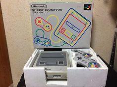 Super Famicom Console Japan NTSC-J boxed set 2 controllers AC Adapter Nintendo