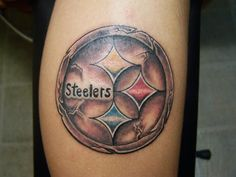 Pittsburgh steelers tattoo from route 60 Robinson pa. in Pittsburgh Dad Tattoos, Sleeve Tattoos, Unique Tattoos, Cool Tattoos, Steelers Tattoos, Gemini Tattoo Designs, Ankle Tattoo, Wrist Tattoo, Steeler Nation