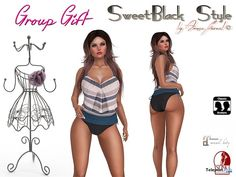 Summer Crazy Swimsuit and Shirt Group Gift by SweetBlack | Teleport Hub - Second Life Freebies