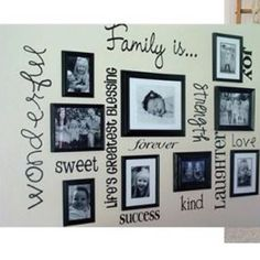 I'm doing this to one of moms bare walls behind the couch!! Hand painting the sayings!