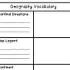 *Vocabulary from third grade Geography SOL 3.5.  *Students use this sheet to write in definition and draw a picture of each word *Sized so that stu...