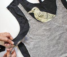 Trash To Couture: No Sew Tshirt Refashion