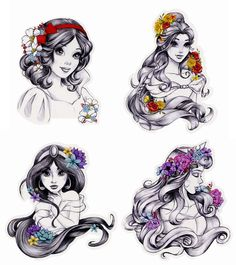 Disney Princess Stickers from Hot Topic