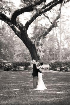 Paul & Jewel Studios - Santa Barbara Destination Wedding Photographers #wedding #tree #kiss #blackandwhite #romantic