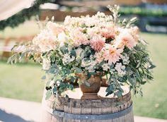 #dahlia  Photography: Jessica Burke - jessicaburke.com  Read More: http://www.stylemepretty.com/2014/01/07/rustic-chic-napa-valley-wedding-at-long-meadow-ranch/