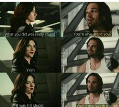 Basically Bucky and Ilya....