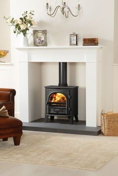 New Living Room Ideas With Fireplace Victorian Wood Burner Ideas Log Burner Living Room, Log Burner Fireplace, Fireplace Hearth, Wood Burner, Living Room With Fireplace, Fireplace Surrounds, Living Rooms, Fireplace Ideas, Family Rooms