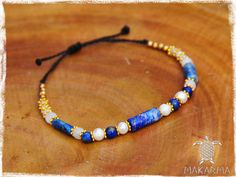 Royal Bracelet Natural Semi Precious Stones by MaKarmaCreations