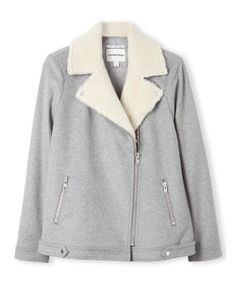 Faux Shearling Collar Jacket I Country Road Coats For Women, Jackets For Women, Clothes For Women, Winter Fashion, Fashion Outfits, How To Wear, Window Shopping, Penguins, Cosy
