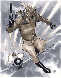 Rocketeer Comic Art by Mahmud Asrar