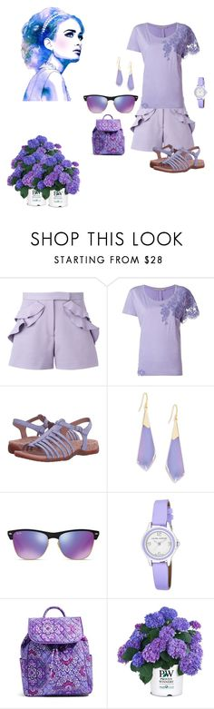 """Lilac"" by chauert on Polyvore featuring Elie Saab, Ermanno Scervino, Sanita, Alexis Bittar, Ray-Ban, Laura Ashley and Vera Bradley"