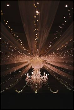 Beautiful Wedding canopy light ideas