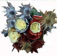 Silver Flowers | Buy Silver Flowers Online | Silver Rose | Silver Thistle Gerbera Daisy Centerpiece, Rose Centerpieces, Christmas Centerpieces, Flowers Online, All Flowers, Silver Flowers, Star Of Bethlehem, Red Rose Flower, Christmas Flowers