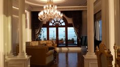 This penthouse decorated by Assalam Interior Co. in 2014 Ataşehir Istanbul. Everysingle pieces are custommade. Project was improved for most famous Turkish contractor Mr. Ali Ağaoğlu by Sezen Ulubay. The style reminds last 19th century Osmani Palaces. Especially ceiling and wall decorations facinating. The location of project is Andromeda Gold Tower which contructed by Agaoğlu Company, 50th- 51th floor penthouse.