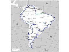 route idea South America, Map, Clock, Location Map, Peta, Maps