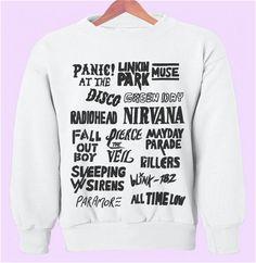 Alternative Rock Bands Crewneck/Sweatshirt on Etsy, $28.00