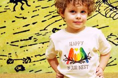 """Cute """"Happy in Our Nest"""" T-Shirt for Kids with Gay Parents. $17.50, via Etsy."""