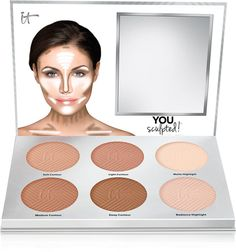 IT Cosmetics You Sculpted! Universal Contouring Palette IT Cosmetics You Sculpted! It Cosmetics, Natural Cosmetics, Palette Contouring, Light Contouring, Contouring And Highlighting, Makeup Contouring, Contouring Guide, Easy Contouring, Clinique Makeup