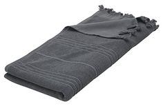"Eshma Mardini Luxury Turkish Cotton Bath Towel Ultra Absorbent and Soft 73"" x 35.5"" - Dark Gray - $16.95"