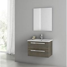 ACF by Nameeks ACF DA01-GO Dadila 24-in. Single Bathroom Vanity Set - Gray Oak Senlis - ACF DA01-GO-