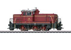German Federal Railroad (DB) class V 60 diesel switch engine. Diesel hydraulic drive with a jackshaft. Road number V 60 Th Light Rail, Central Station, Diesel Locomotive, Paint Schemes, Military Vehicles, Outdoor Power Equipment, Train, Spur, Products