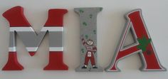Ohio State Buckeye Themed Wall Letters by SilverSprout on Etsy