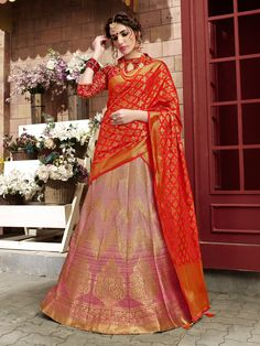 Buy party wear lehenga choli online for women. Grab this art silk weaving work lehenga choli for bridal and wedding. Ghagra Choli, Lehenga Choli Online, Bridal Lehenga Choli, Lehenga Saree, Anarkali, Sari, Silk Sarees, Latest Bridal Lehenga, Party Wear Lehenga