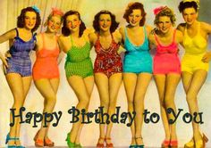 Happy Birthday vintage pin up style, T. Happy Birthday Vintage, Happy Birthday Girls, Happy Birthday Pictures, Happy Birthday Messages, Happy Birthday Quotes, Happy Birthday Greetings, Birthday Funnies, Birthday Blessings, Birthday Posts