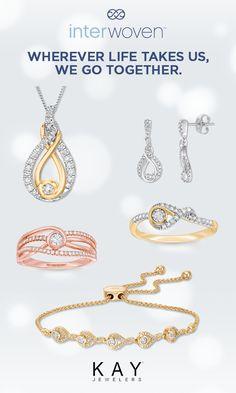 342aaa1e7 Visit Kay to shop Interwoven pendants, earrings, rings and bracelets. Each  design features