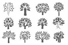 Tree logo illustration icon set by Alic | Design Bundles