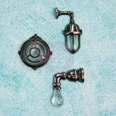 Prima - Junkyard Findings - Ingvild Bolme - Industrial Lamps Available at www.creativeinspirations.ca