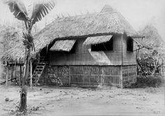 Filipino home with a banana tree, early Century, Philippines Philippines Tattoo, Philippines Beaches, Philippines Culture, Filipino Art, Filipino Culture, Filipino Tattoos, Filipino Architecture, Philippine Architecture, Olongapo