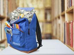 backpack of money