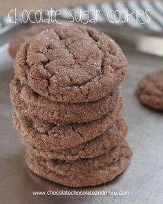 Chocolate Sugar Cookies-so simple yet so good!