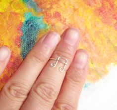 Sterling Silver Music Note Knuckle Ring Gold by PurplePoemCraft