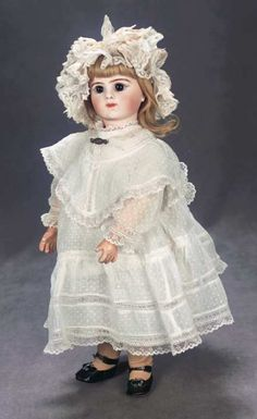 "The Great Man's Doll: 382 French Bisque ""Bebe Respirant"" by Maison Bru in Beautiful Antique Costume"