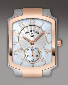 Philip Stein Small Classic Two-Tone Rose Gold Watch Head $450.00