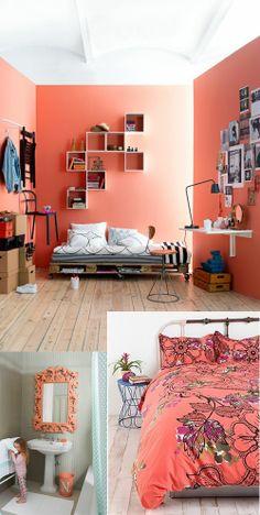 Coral el color que sienta bien! #couleur, #coral, #color, #corail