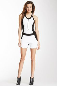 Wow Couture Colorblock Romper