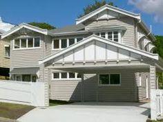 Image result for renovated queenslander Carport Designs, Carport Ideas, Driveway Ideas, Garage Ideas, Double Carport, Carport Garage, Bungalow Exterior, Exterior House Colors, Exterior Paint